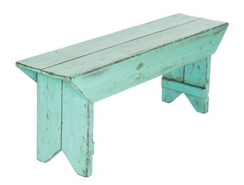 Rustic Bench | Farmhouse Bench | Entryway Bench | Mudroom Bench | Beach Decor | Nautical Theme | Shabby Chic | Caribbean Green |