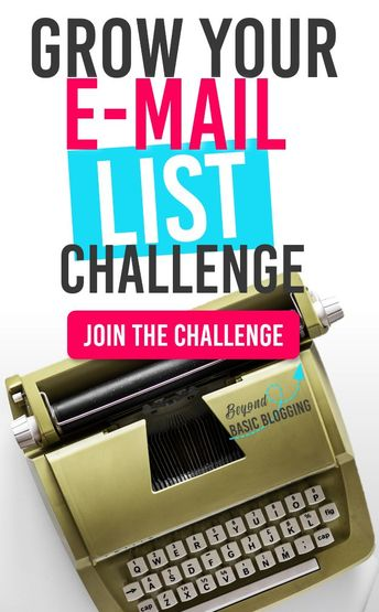 This challange WORKS! I am seeing consistent e-mail list growth and  I know I'm going to hit 1000 subscribers soon! Now my email newsletter is making me money instead of draining my blogging account!