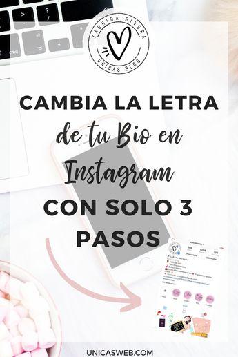 Cambia la letra de tu Bio en Instagram con solo 3 pasos #instagram Si quieres colocar una letra diferente para que tu Bio en Instagram luzca perfecto y personalizado esta publicación es para ti.