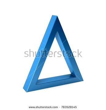 Isosceles Triangle. 3D Render Illustration