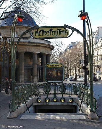 Hector Guimard (1867-1942). Métro Monceau. 1902. Paris 8e - France