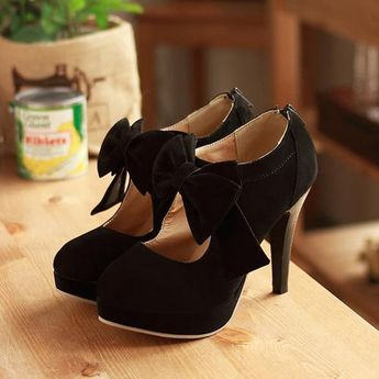 $45.99 Dresswe.com SUPPLIES Fashion Bowknot Suede Stiletto Heels Ankle Boots