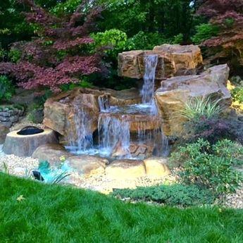 Diy Backyard Ponds And Waterfalls Backyard Waterfall Pond Garden Ponds And Waterfalls Designs Garden Ponds And Waterfalls Ideas