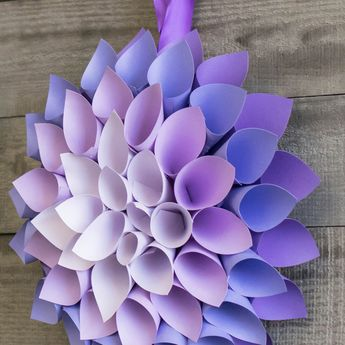 This Paper Flowers Tutorial Shows You How to Make a Dahlia - Darby video by @NICOLE