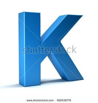 K Letter Icon. 3D Render Illustration