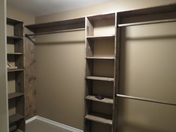 DIY closet shelves - Walk-in closets: No more living out of laundry baskets!