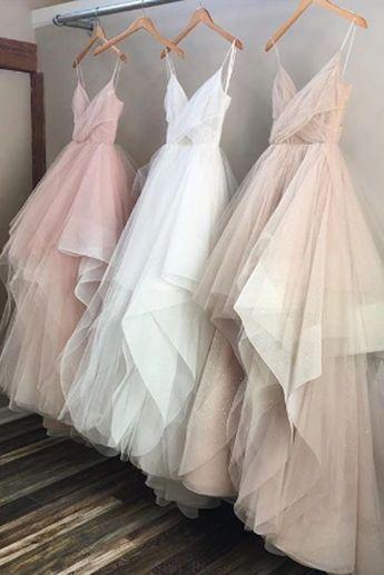 Discount Magnificent 2019 Prom Dresses Spaghetti Chic Tüll Bodenlangen Abendkleider Abendkleider