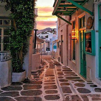 "Mykonos    #mykonostown on Instagram: ""Majestic and peaceful sunset in Mykonos 🇬🇷 - - - - - - thanks @kardinalmelon 👏👏 #mykonos #sunset #greece #trip #travel #igers #summer…"""