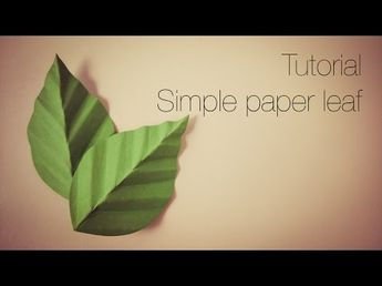 How To Make A Cute Paper Stem With Leaves - DIY Crafts Tutorial - Guidecentral - YouTube