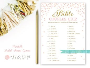 bible couples quiz printable bridal shower game famous biblical couples game pink and