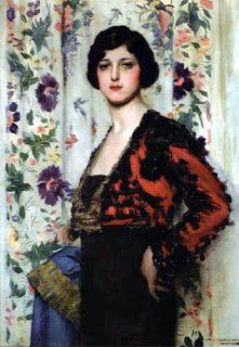 Obra de Ramon Casas. Mujer con torera, 1915