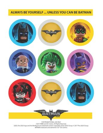 The LEGO Batman Movie: Party Straw Toppers