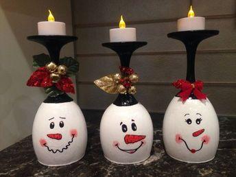 HACER MANUALIDADES NAVIDEÑAS CON COPAS DE CRISTAL #flores #letras #niños #kids #manualidades #diy #decoración #arte #cursos #navidad #christmas #copasdecristal #decor #navideño