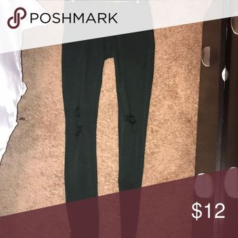 Navy green jeans Dark green jeans with small rips at the knee Blue Asphalt Jeans Skinny