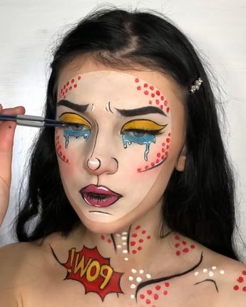 Last Minute #Halloween makeup tutorial inspiration from radom looks! View the link below to get more last minute Hallow Makeup tutorials from pop film! #HalloweenMakeup #Tutorial #Makeup #costume