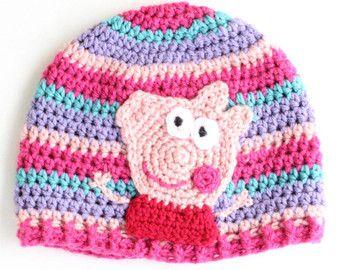 Peppa Pig sombrero, sombrero del invierno, regalo de la Navidad, sombrero  de la ff83e40b2f0