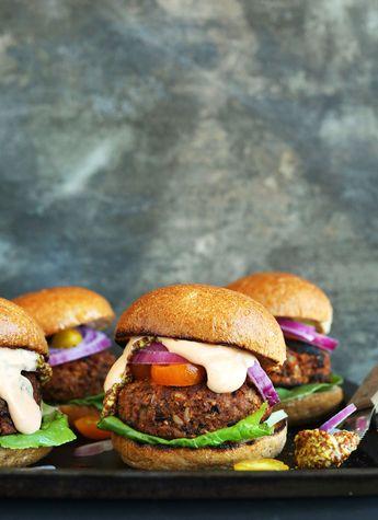 Easy Grillable Veggie Burgers