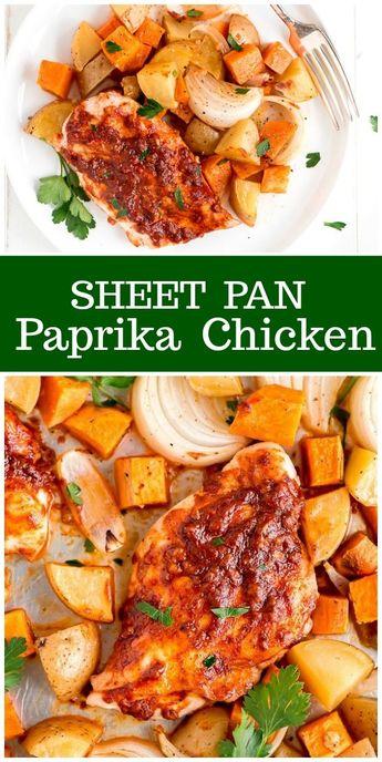 Sheet Pan Paprika Chicken