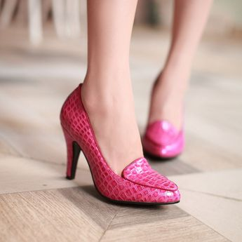 Heels: approx 9 cm Platform: approx - cm Color: Red, Blue, Black, Fuchsia Size: US 3, 4, 5, 6, 7, 8 (All Measurement In Cm And Please Note 1cm=0.39inch) Note:Use Size Us 5 As Measurement Standard, Error:0.5cm.(When Plus/Minus A Size,The Round And Shaft Height Will Plus/Minus 0.5CM Accordingly.Error:0.5cm) Note: The size you choose is US Size and 1CM=0.39inch. Size Guide: US 3=EU34=22CM,US 4=EU35=22.5CM,US 5=EU36=23CM, US 6=EU37=23.5CM,US 7=EU38=24CM,US 8=EU39=24.5CM, US 9=EU40=25CM,US 10=EU41=25