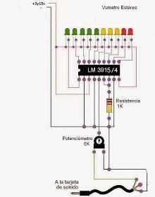 Electrotole: VUMENTER OF 10 LEDS WITH LM3915 - #electronic #Electrotole #LEDs #LM3915 #VUMENTER
