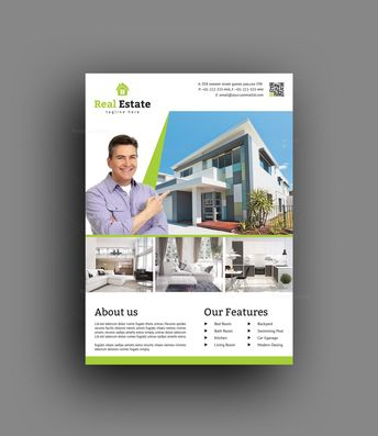 Top Rated Real Estate Flyer Design Template - Graphic Templates