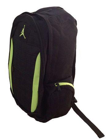 740b15a91a5 Nike air jordan jumpman backpack book laptop school bag 9a1137-982  black volt