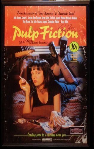 Pulp Fiction Cast Autographed Poster
