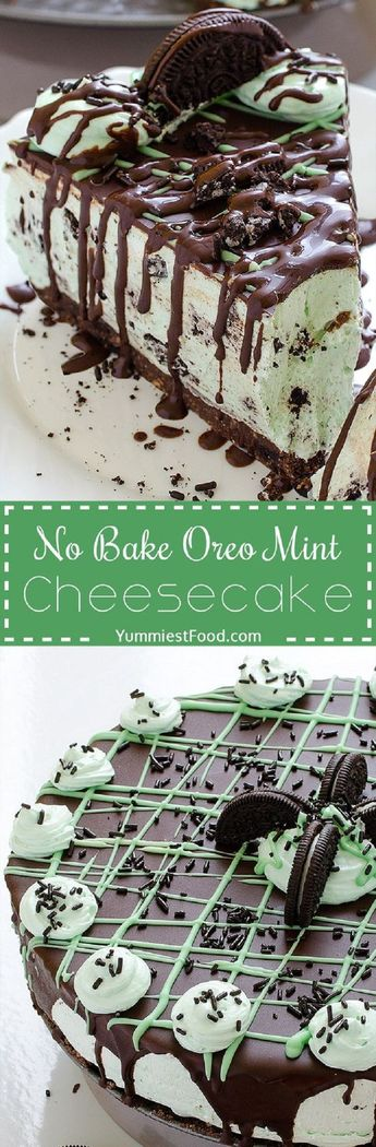 No Bake Oreo Mint Cheesecake - 14 Dainty Cheesecake Recipe Ideas for a Truly Sweet Gathering