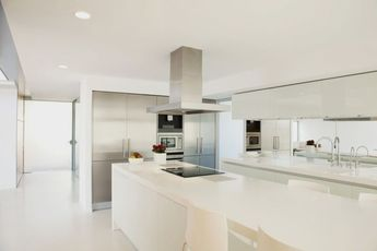 46 Great Examples of White Contemporary Kitchen Cabinets