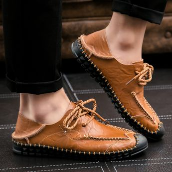 US $25 Luxury Brand Summer Men Shoes Genuine Leather Big Size Men Driving Shoes Good Quality Soft Men Loafers Comfortable Breathable
