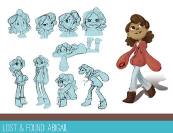 Little girl character sketches by Angelica Russe