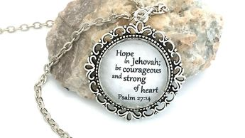Items similar to JW gifts/jw necklace/'Your strength will b
