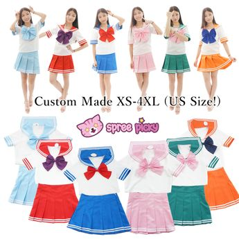87716c7d7b Daily Cosplay [Sailor Moon Series] Sailor Seifuku Uniform Set from  SpreePicky