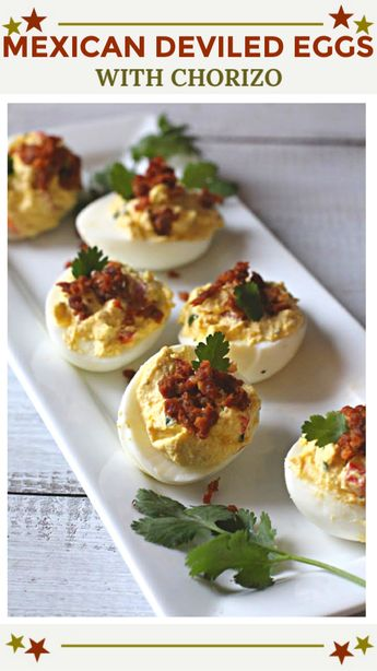 Chorizo Mexican Deviled Eggs