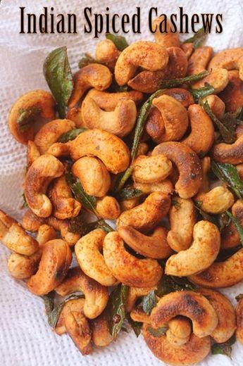 Indian Spiced Cashews Recipe