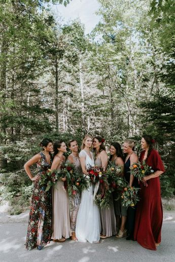 Gorgeous Fall Bridesmaids Style Inspiration
