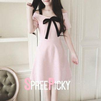 52cf85f924c3 S-XL Blue/Pink Sweet Princess Floral Printing Chiffon Dress