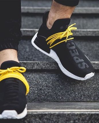 Mens size Human Race Adidas HU Black / PW fake