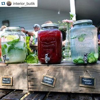 Repost of @interior_butik keeping things fresh with drink dispensers from Americana! #classy