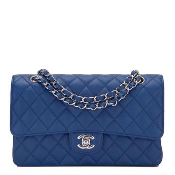 Chanel Dark Blue Quilted Caviar Medium Classic Double Flap Bag  CHANEL   TotesShoppers 104ce537852a6