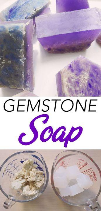 Gem Stone Soap DIY