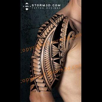halfsleeve-polynesian-tattooflash-images-free-download-high-resolution #Polynesiantattoos