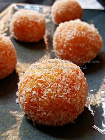 Microwave Carrot Rava Ladoo (My guest post)