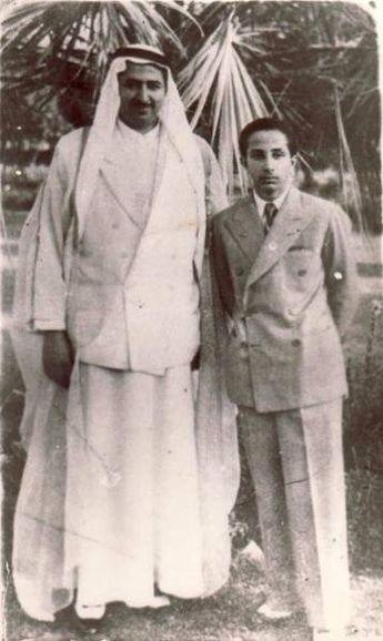 الملك فيصل الثاني والشيخ أحمد العجيل الياور الجربا