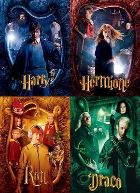 Harry - Hermione - Ron - Draco