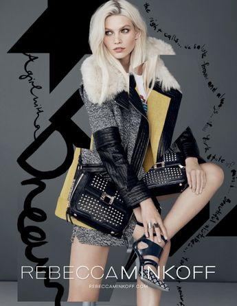 6cf102a550a1 Aline Weber Gets Playful for Rebecca Minkoff Fall 2013 Campaign