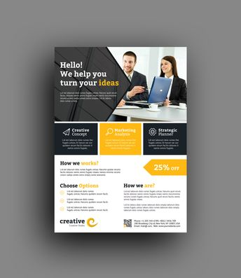 Denver Modern Professional Flyer Template - Graphic Templates