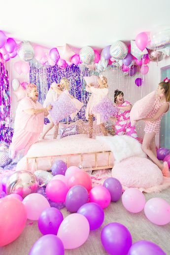 No Boys Allowed: A Holographic + Neon Slumber Party
