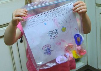 A GREAT idea for transition when you want your child to get rid of their passie/binky!