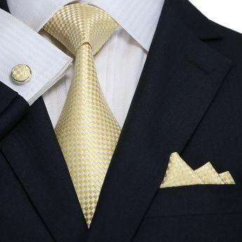 9caea5ce2fee Yellow and White Necktie Set JPM18A25 – Toramon Necktie Company